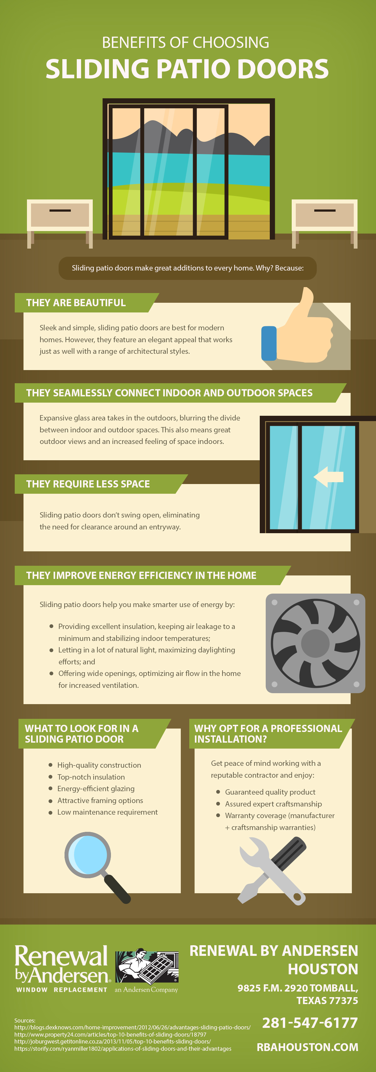 Infographic Benefits Of Choosing Sliding Patio Doors Renewal By